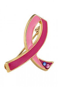 estee lauder breast pin