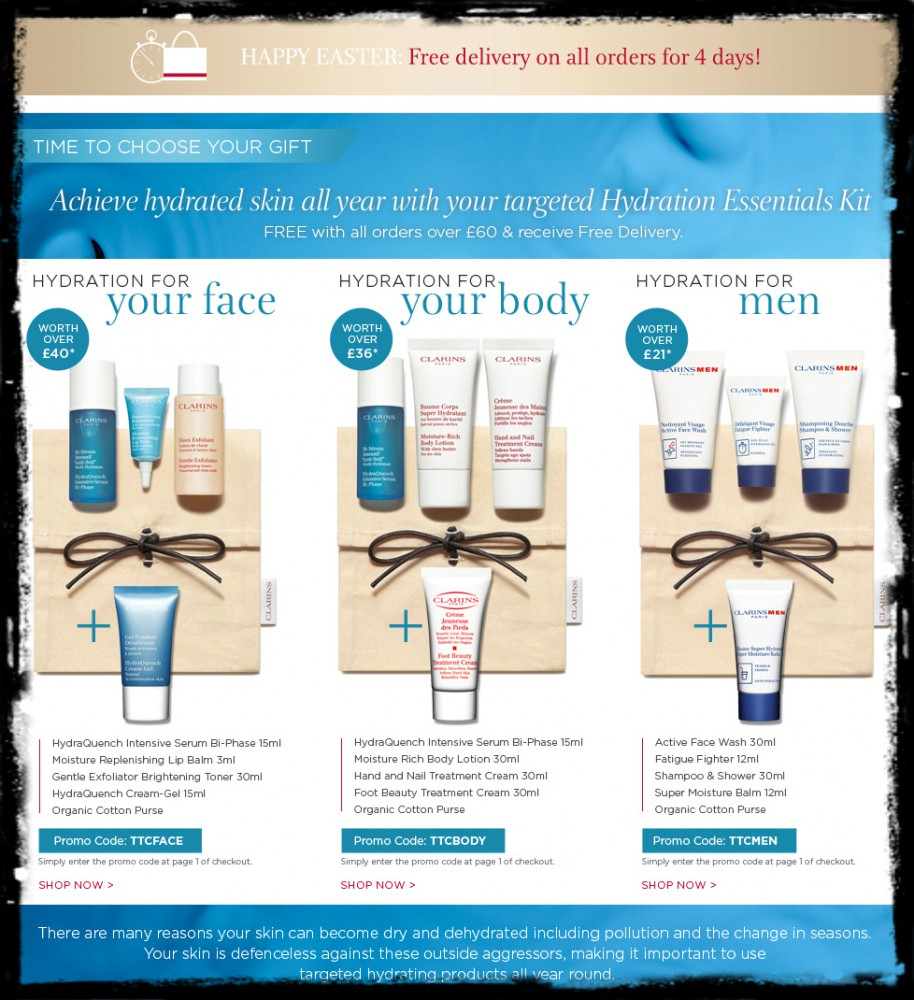clarins offers