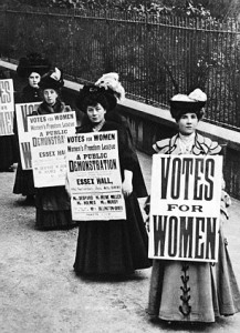 geography / travel, Great Britain, women's movement, suffragettes, announcement of a demonstration at Essex Hall, London, 24.1.1